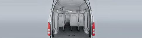 Minibus Flexible Rear Seats